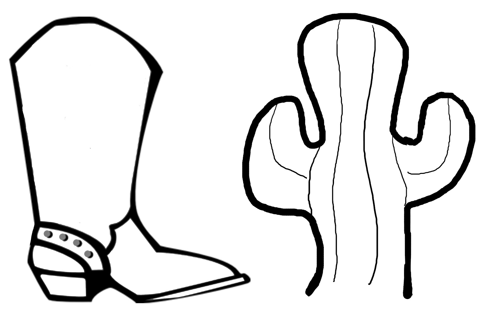 1600x1067 Coloring Pages Of Cowboy Boots And Hats Murderthestout