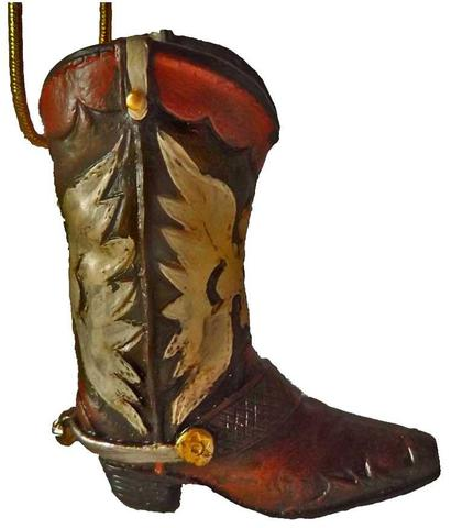420x480 Cowboy Boot Christmas Ornaments North Pole West Cowboy Christmas
