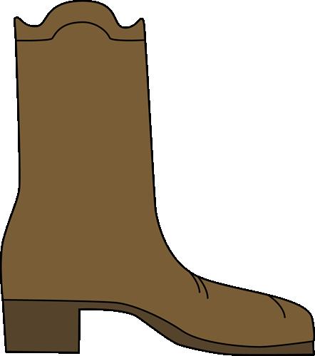 442x500 Cowboy Boot Clip Art