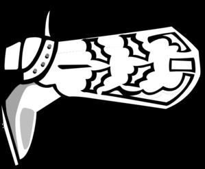 299x246 Cowboy Boot Clip Art