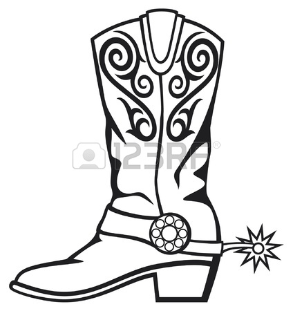 424x450 Cowboy Boot Royalty Free Cliparts, Vectors, And Stock Illustration