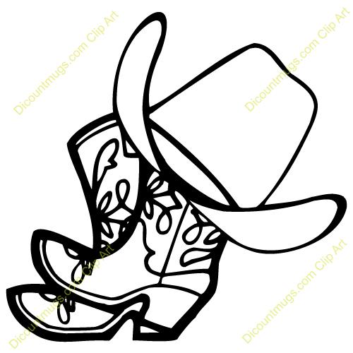 500x500 Cowboy Clipart Boots Hat