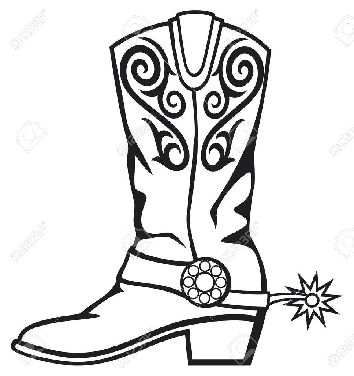 1223x1300 Drawn Boots Cowboy