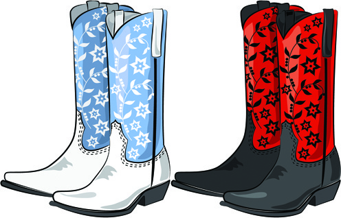496x318 Free Cowboy Boots Vector Free Vector Download (201 Free Vector