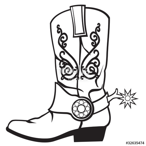 500x500 Cowboy Boots Stock Image And Royalty Free Vector Files On Fotolia