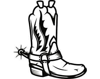 340x270 Cowboy Shoes Svg Etsy