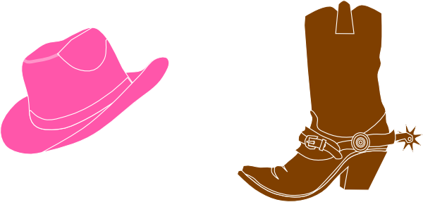 600x287 Cowgirl Hat And Boot Clip Art