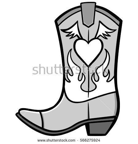 450x470 Cowgirl Clipart Shoe