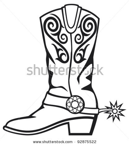 416x470 Purple Clipart Cowboy Boot
