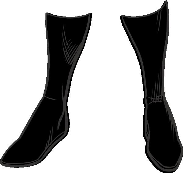 600x566 Black Boots Clip Art