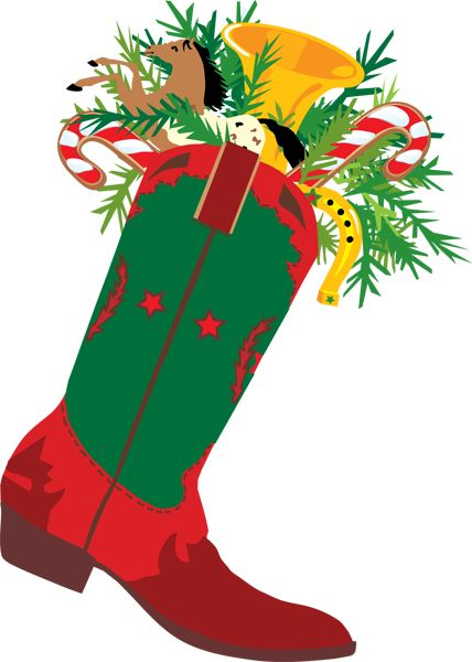 428x600 A Cowboy Christmas Boot Cowboy Boots Clip Art And Cowboys Image