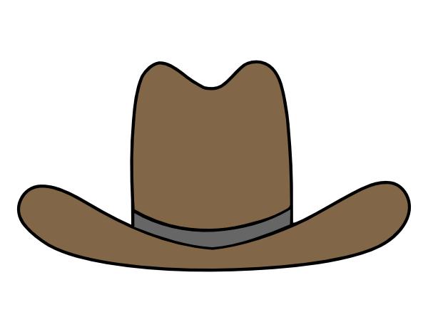 600x466 Cowboy Hat Clip Art