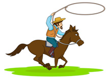 210x153 Free Cowboys Clipart