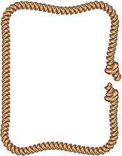 176x225 Cowboy Rope Clipart Border