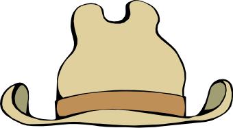 340x187 Cowboy Hat Clip Art Borders Free Clipart Images