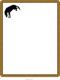 200x265 Clip Art Western Border Clipart