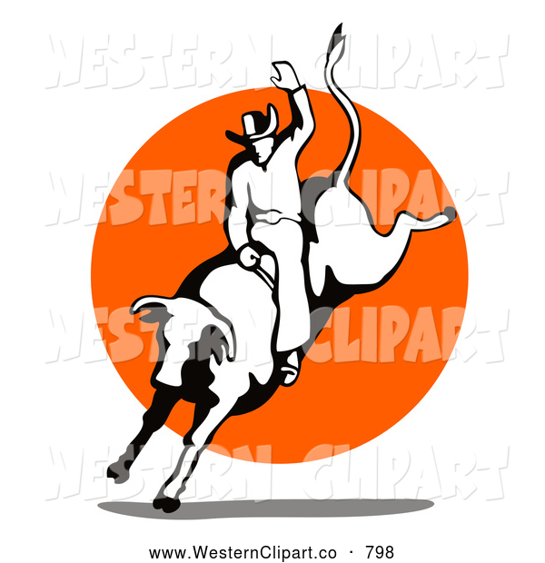 600x620 Clipart Rodeo With Bulls