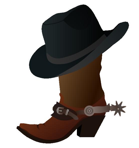 555x588 Clipart Cowboy Free