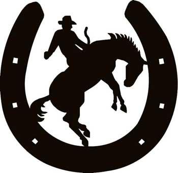350x341 Cowboy Clipart Horseshoe
