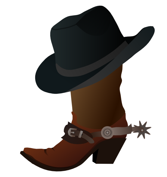 555x588 Clip Art Western Boots Clipart Kid