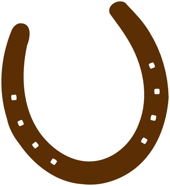 546x596 Cowboy Brown Horseshoe Clip Art