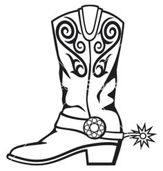 236x248 Cowboy Boots Clipart Black And White 101 Clip Art