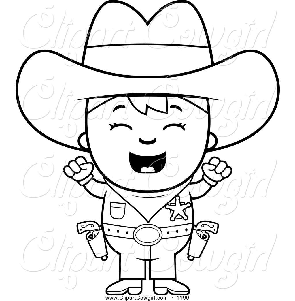 1024x1044 Cowboy Clipart Black And White