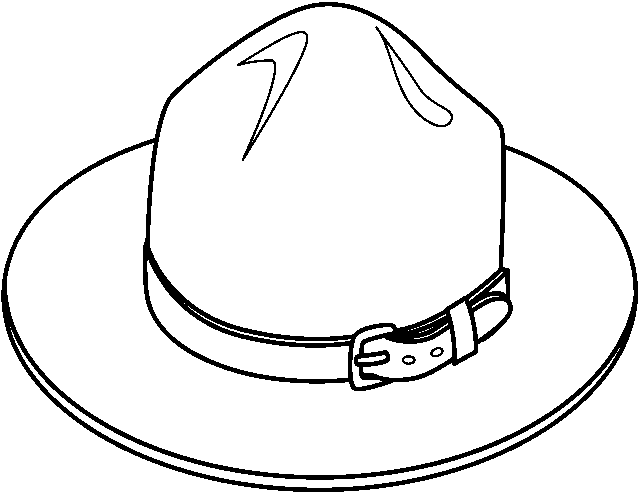 642x492 Hat Black And White Cowboy Hat Clipart