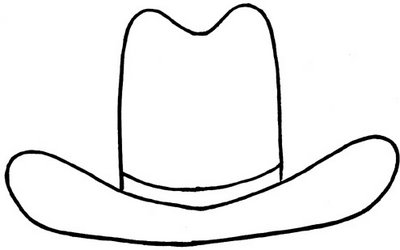 400x250 Hat Clipart Black And White