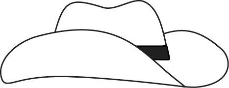 467x179 Black And White Cowboy Hat Clip Art