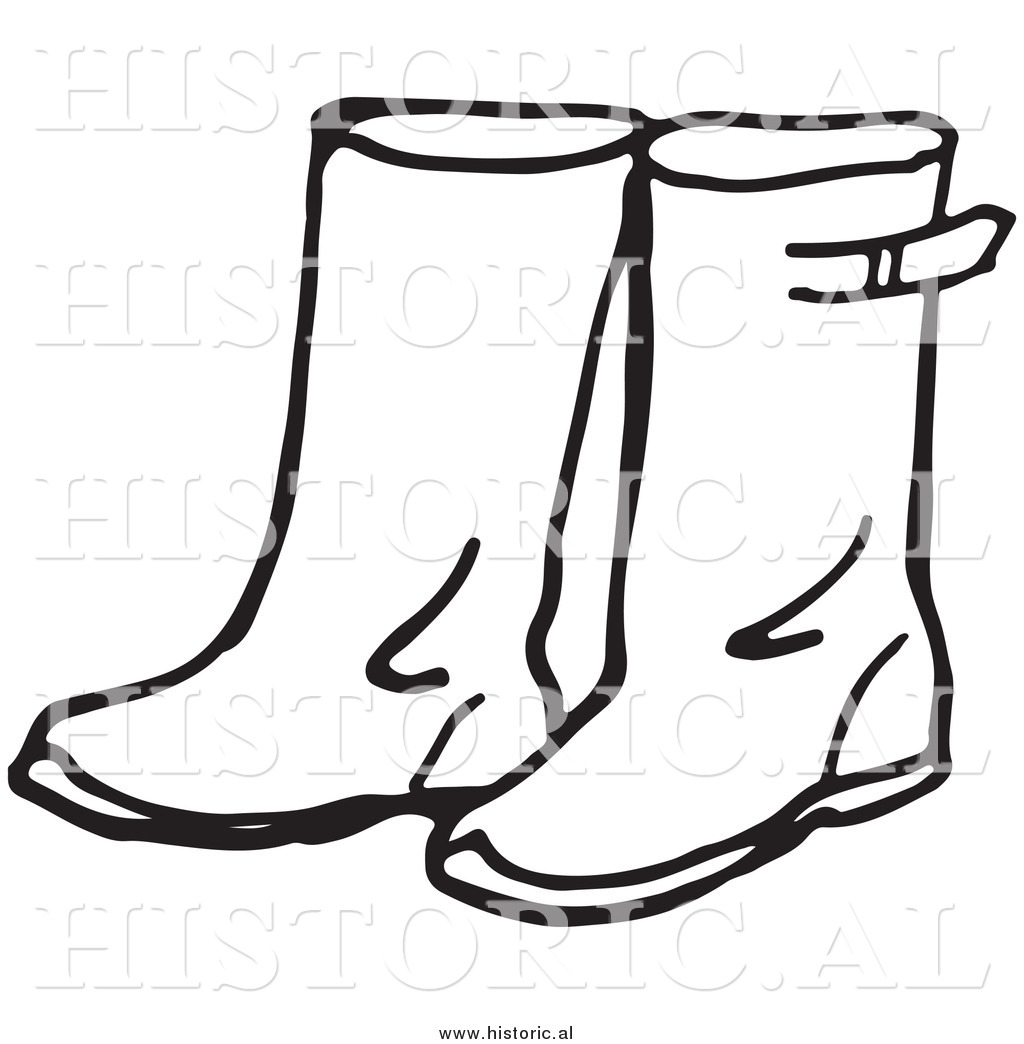 1024x1044 Boot Black And White Clipart