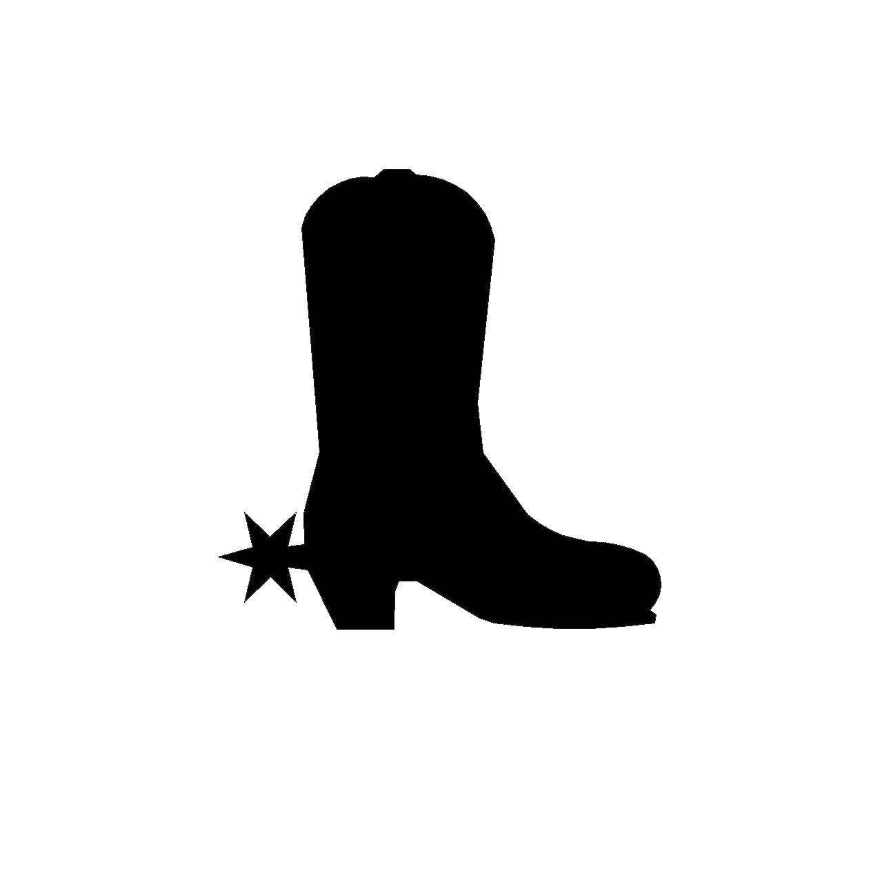 1260x1260 Image Cowboy Boot Silhouette Clip Art Image