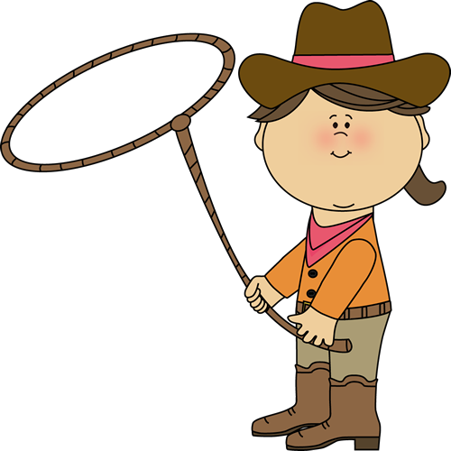 500x500 Cowboy With Lasso Clipart
