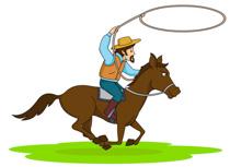 210x153 Clip Art Cowboy
