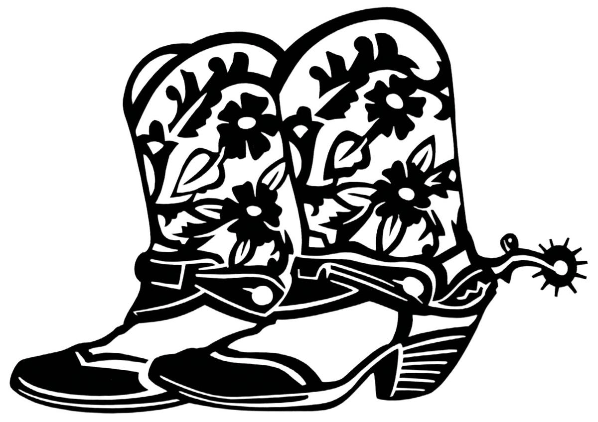 1200x848 Cowboy Boot Outline Clip Art