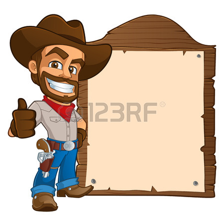 450x450 Sympathetic Cowboy Hat, Wears Boots And A Gun Royalty Free