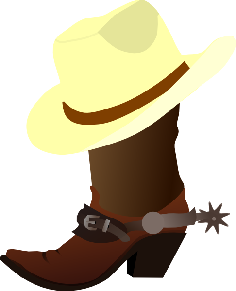 486x598 White Cowboy Hat And Boots Clip Art