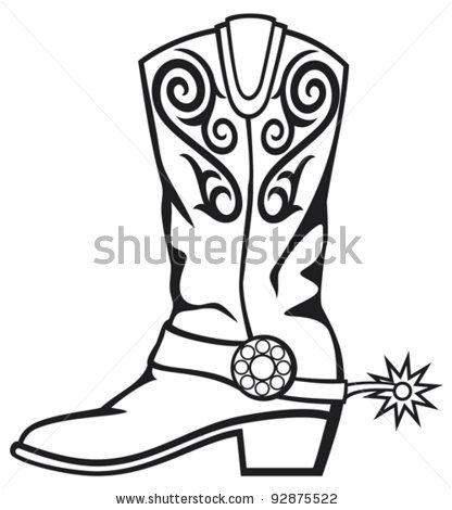 416x470 Boots Clipart Cowboy Boot
