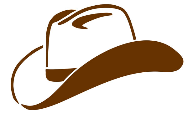 600x361 Cowboy Hat Clipart Black And White Free