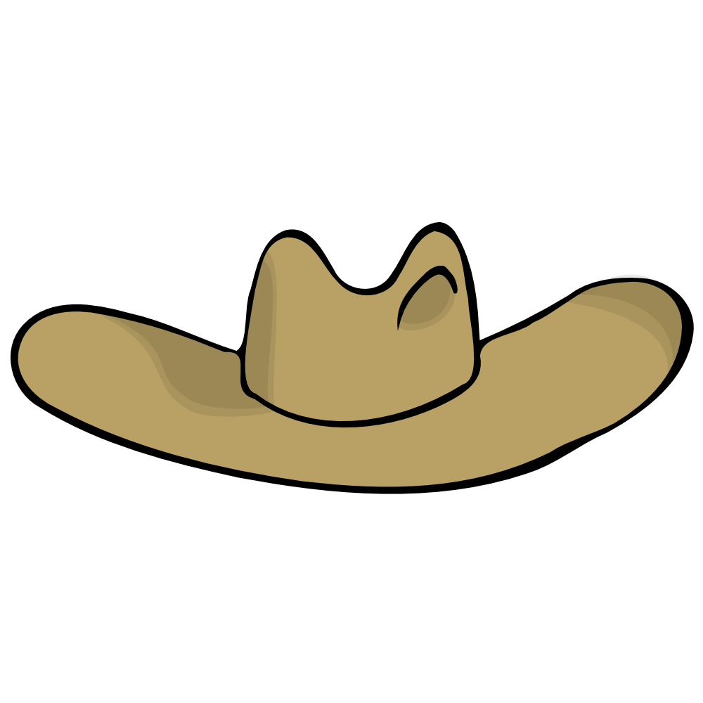 1000x1000 Cowboy Hatwgirl Hat Clip Art Image