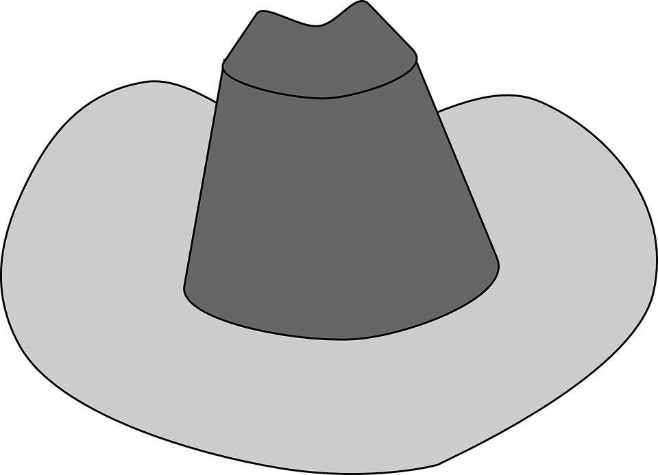 960x694 Free Cowboy Hat Clipart Black And White Images