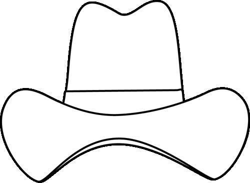 500x366 Simple Cowboy Hat Clip Art Clipart Panda