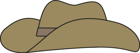 466x177 Brown Cowboy Hat Clip Art