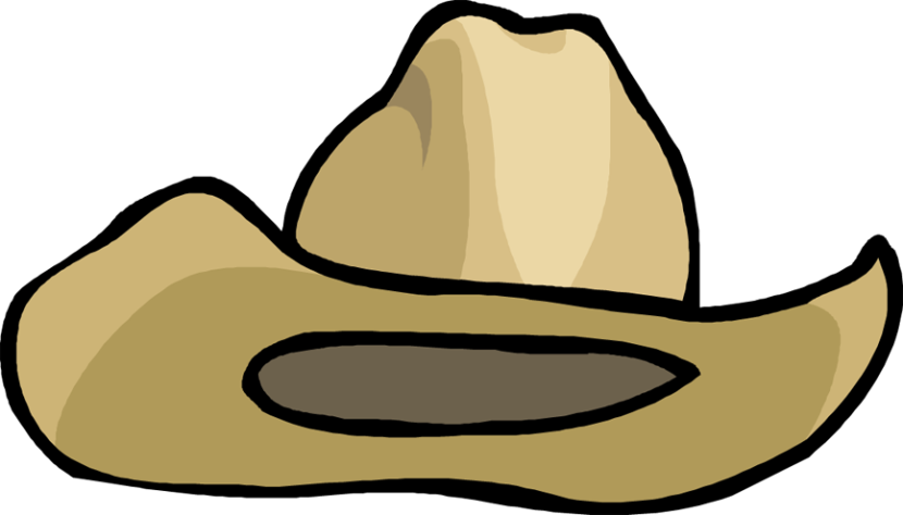 Cowboy hat 10 gallon. Clipart black and white
