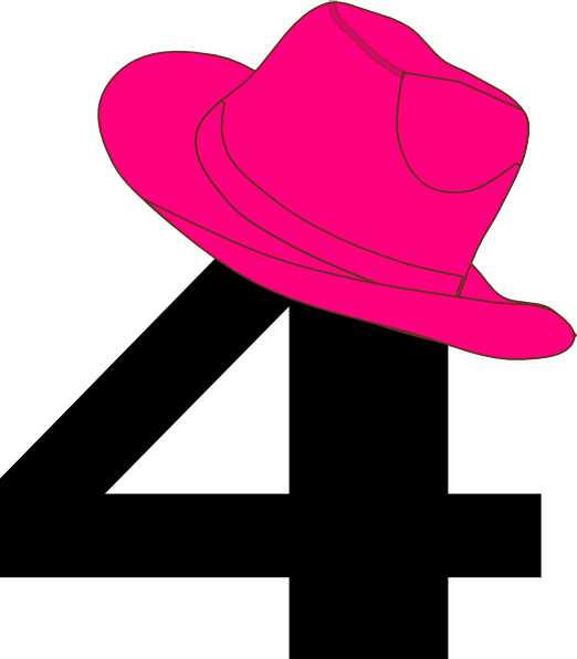 522x596 4 Pink Cowgirl Hat Clip Art