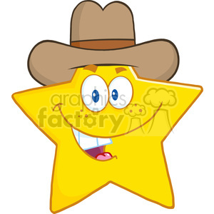 300x300 Royalty Free 6717 Royalty Free Clip Art Smiling Star Cartoon