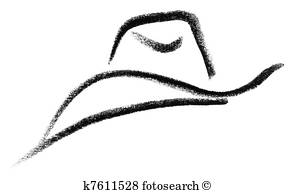 294x194 Cowboy Hat Illustrations And Clip Art. 1,238 Cowboy Hat Royalty