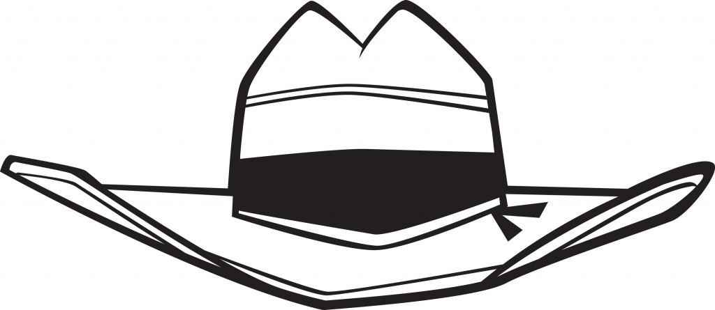 1024x445 How To Draw A Cowboy Hat Cowboy Hat Drawing Clipartsco