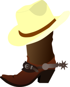241x297 White Cowboy Hat And Boots Clip Art