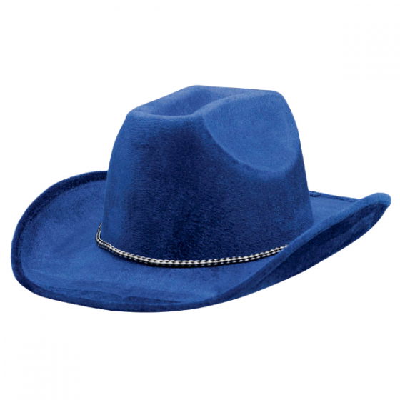 560x560 Blue Suede Cowboy Hat Wally's Party Factory